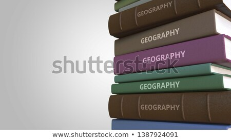 Tanul földrajz könyv cím 3D gerincoszlop Stock fotó © tashatuvango
