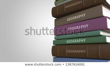 Aprender geografía libro título 3D espina Foto stock © tashatuvango