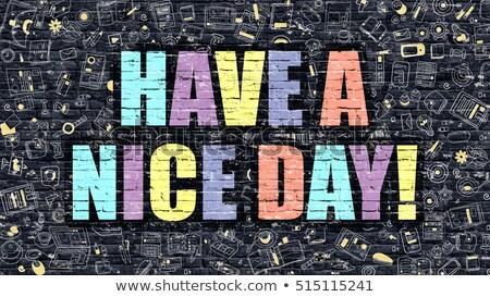 Multicolor Have a Nice Day on Dark Brickwall. Doodle Style. Stock photo © tashatuvango