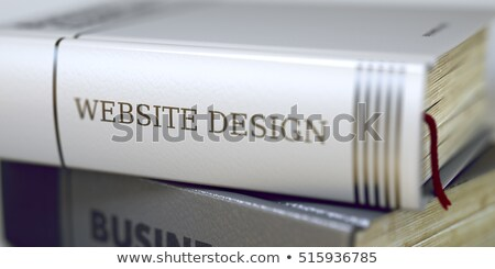 Book Title on the Spine - Website Design. 3D. Stock photo © tashatuvango
