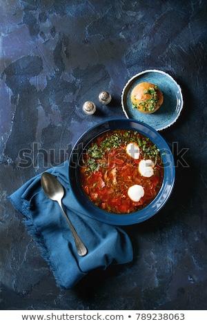 Traditioneel bieten groentesoep voedsel diner Rood Stockfoto © yelenayemchuk