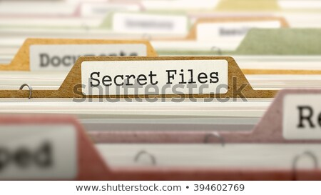 privacy on file folder blurred image stock photo © tashatuvango