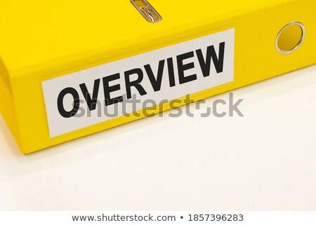 Foto stock: Dobrador · cartão · arquivo · branco · moderno