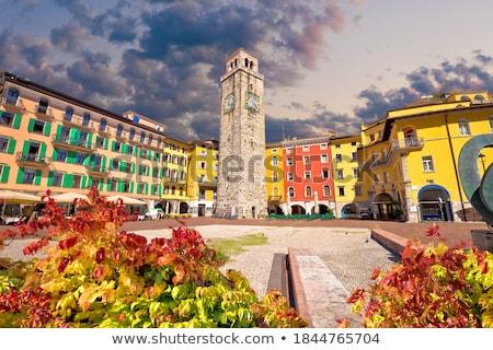 ストックフォト: Colorful Street Of Riva Del Garda