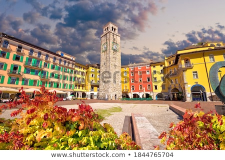 Colorful street of Riva del Garda Stock photo © xbrchx