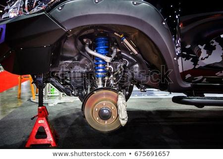 Autó rázkódás izolált fehér teherautó ipar Stock fotó © homydesign