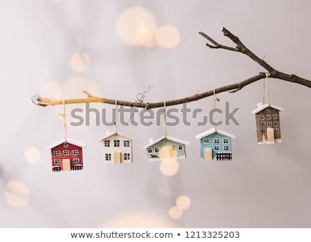 ünnepel karácsony illusztráció mosoly természet éjszaka Stock fotó © adrenalina