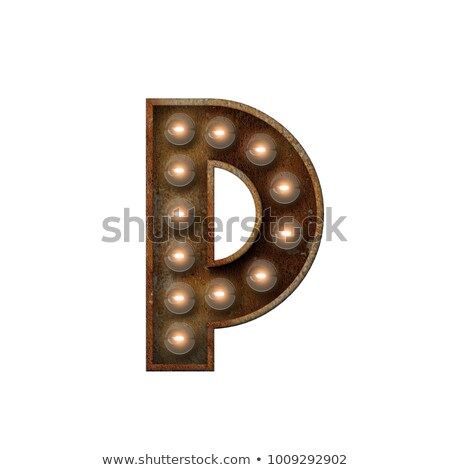 Letter P 3D Broadway Style Stock photo © creisinger
