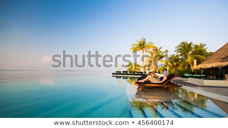 Young woman sleeping on sun lounger Stock photo © IS2
