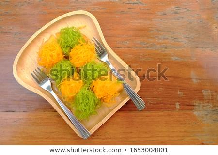 golden egg and fork stock photo © devon