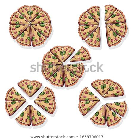 Math pizza wiskundig illustratie taart Stockfoto © lenm