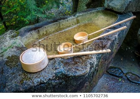 Purification fountain at a Shrine, Arashiyama, Kyoto, Japan Stock photo © daboost