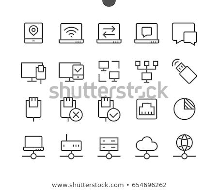 Database networking icone moderno stoccaggio Foto d'archivio © Genestro