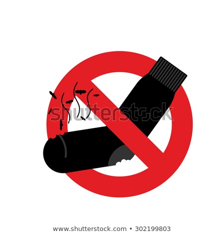 ban dirty smelly socks mark is prohibited vector illustration stock photo © popaukropa