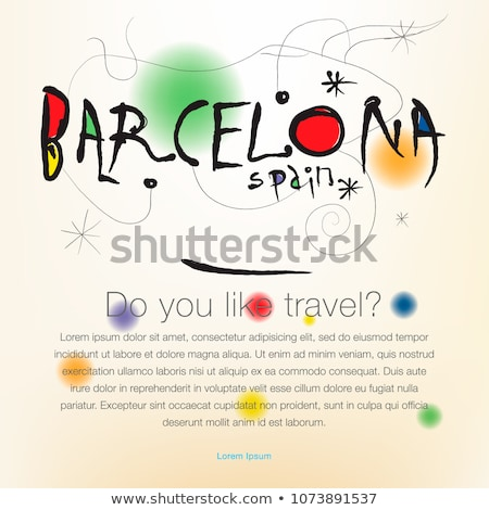 Welcome to Spain, Barcelona, travel desing background, poster, vector illustration. Stock photo © ikopylov