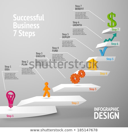 Ascending information step infographic  Stock photo © bluering