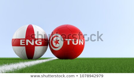 Futebol combinar Tunísia vs inglaterra futebol Foto stock © Zerbor