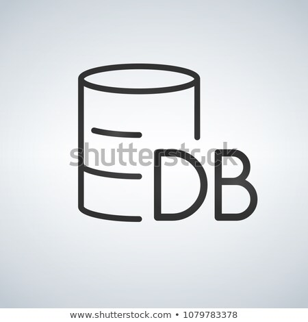Linear Database, Server Isolated Flat Web Mobile Icon with DB word. Vector Illustration isolated on  Stock photo © kyryloff