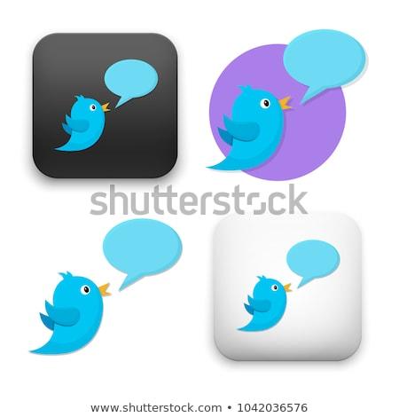 Stockfoto: Blauw · vogel · iconen · vector · vogels