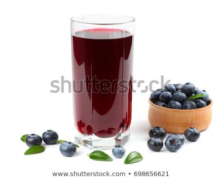 Grupy świeże jagody soku szkła owoców Zdjęcia stock © bdspn