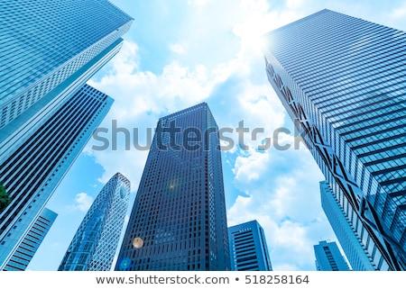 Kilátás modern épület Tokió Japán fa város Stock fotó © boggy