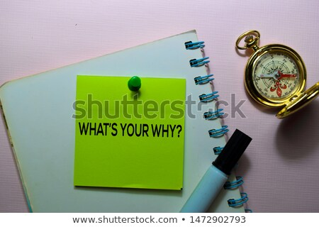 What Is Your Why Sticky Note Concept Stock photo © ivelin