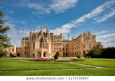 State chateau Lednice in South Moravia, Czech Republic Stock photo © artush