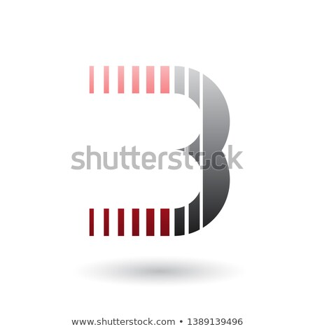 Red and Black Letter B Icon with Vertical Stripes Stock photo © cidepix