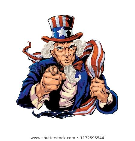 Nagybácsi kabala ikon illusztráció fej népszerű Stock fotó © patrimonio