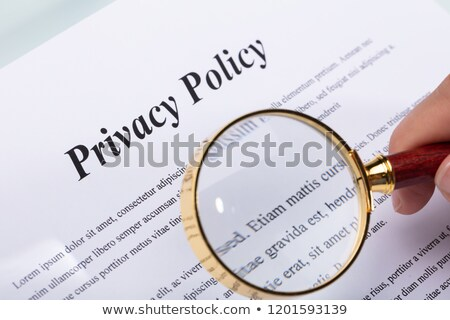 Woman Holding Pen Over Privacy Policy Form Stock photo © AndreyPopov