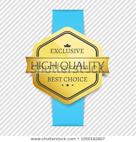 merk · gouden · label · badge · ingesteld - stockfoto © robuart
