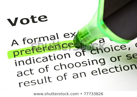 'Preference' highlighted, under 'Vote' Stock photo © ivelin
