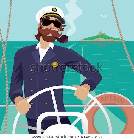 Happy Cartoon Sea Captain Stock photo © cthoman