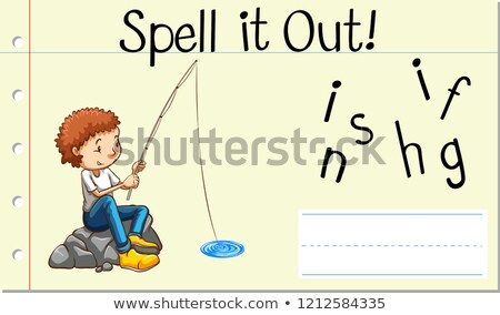 Spell English word fishing Stock photo © bluering