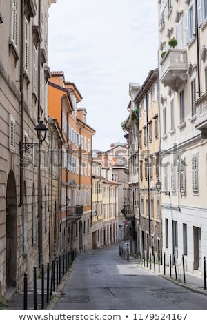 narrow street in trieste italy stock photo © boggy