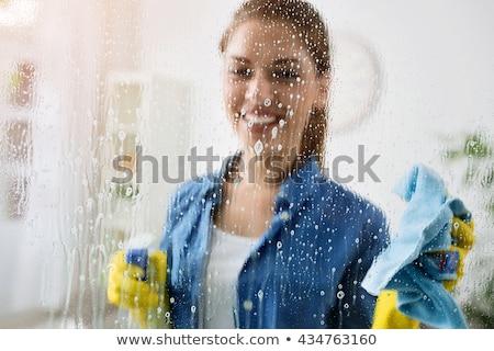 ménagère · brosse · à · cheveux · portrait · fille · sourire - photo stock © kzenon