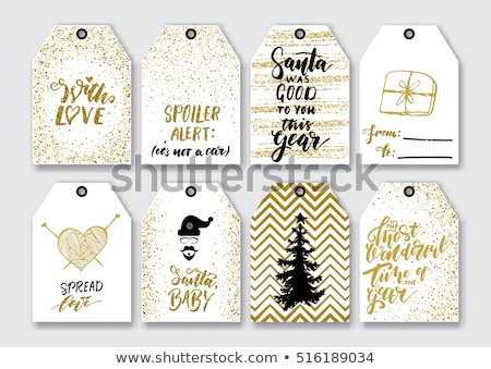 Winter Christmas Design Elements Golden Set Stock photo © Voysla