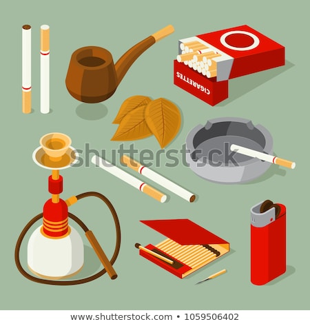 Ashtray with cigarettes isolated. Accessory of smoker. Stock photo © MaryValery