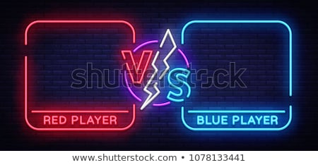 VS letters versus banner competitive concept vector Stock photo © MarySan