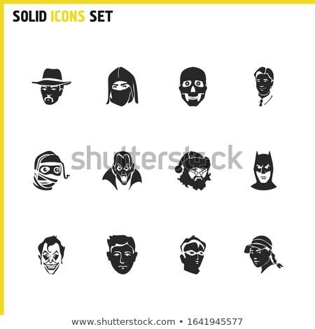 Samurai speler avatar mensen icon cartoon Stockfoto © Krisdog