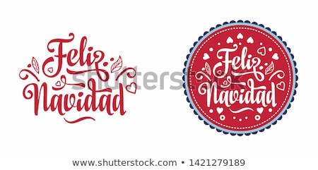 Spanish christmas web banner of gold ornaments Stock photo © cienpies