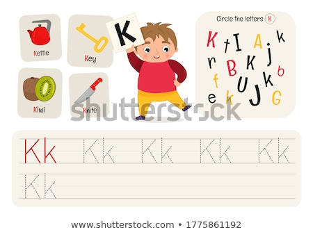 書く 手紙 ワークブック 子供 漫画 実例 ストックフォト © izakowski