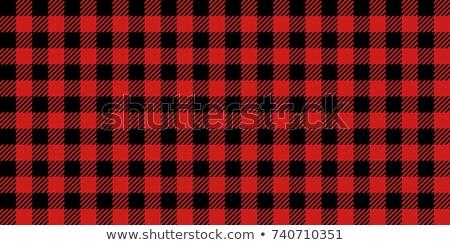 favágó · kockás · minta · piros · fekete · textúra - stock fotó © jeksongraphics