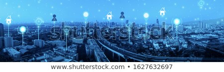 Intelligent services in smart city header banner. Stock photo © RAStudio