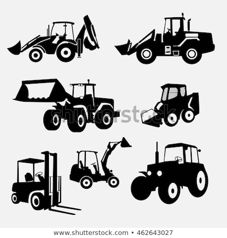 Big Tractor and Loader Set Vector Illustration Stock photo © robuart