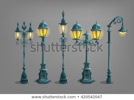 Forged streetlight at old street Stock photo © vapi