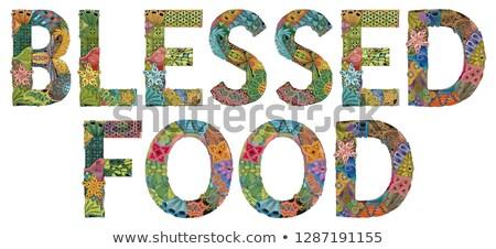 Sözler gıda vektör dekoratif nesne sanat Stok fotoğraf © Natalia_1947