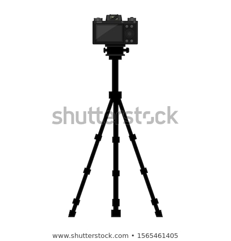 Photographer Adjusting Digital Camera on Tripod Stock photo © robuart