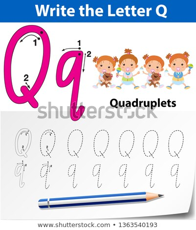 a letter q for quadruplets stock photo © colematt