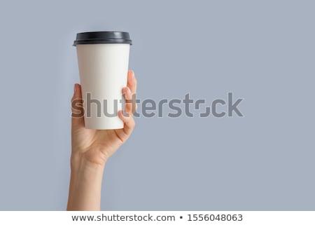 mão · caneca · de · café · branco · café · mulheres - foto stock © ra2studio